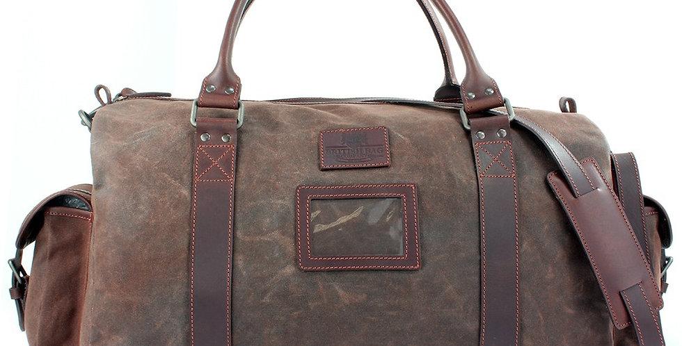 Brown Waxed Canvas Weekend Bag