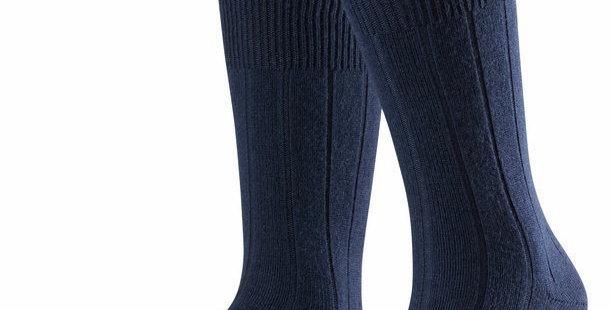 Navy Cashmere Blend Socks