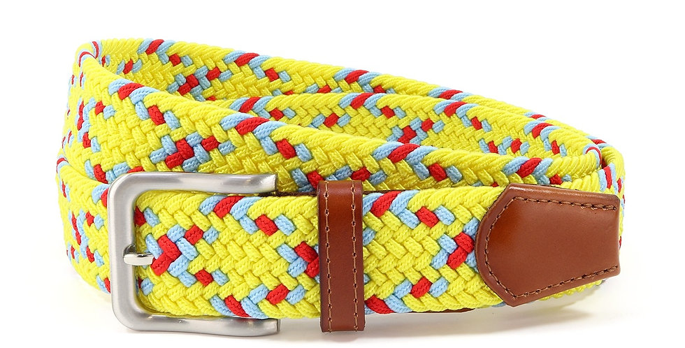 Yellow Speckled Woven Belt