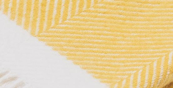 Yellow Herringbone Wool Blanket