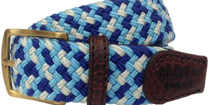 Multi Blue Woven Belt