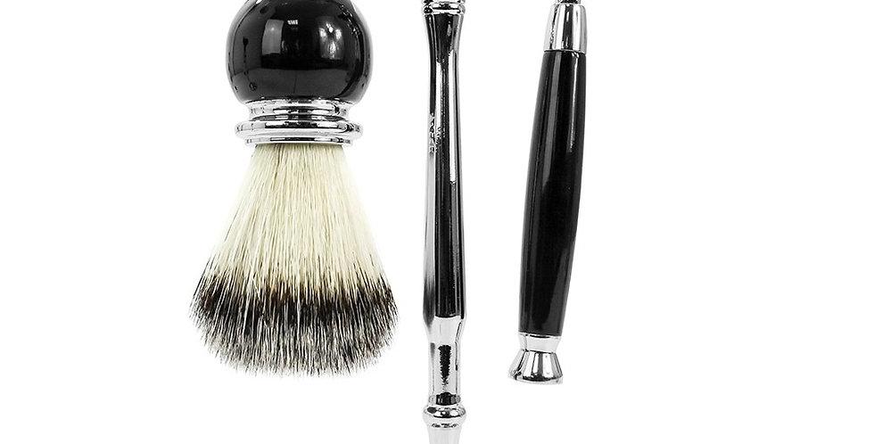 Black Shaving Set