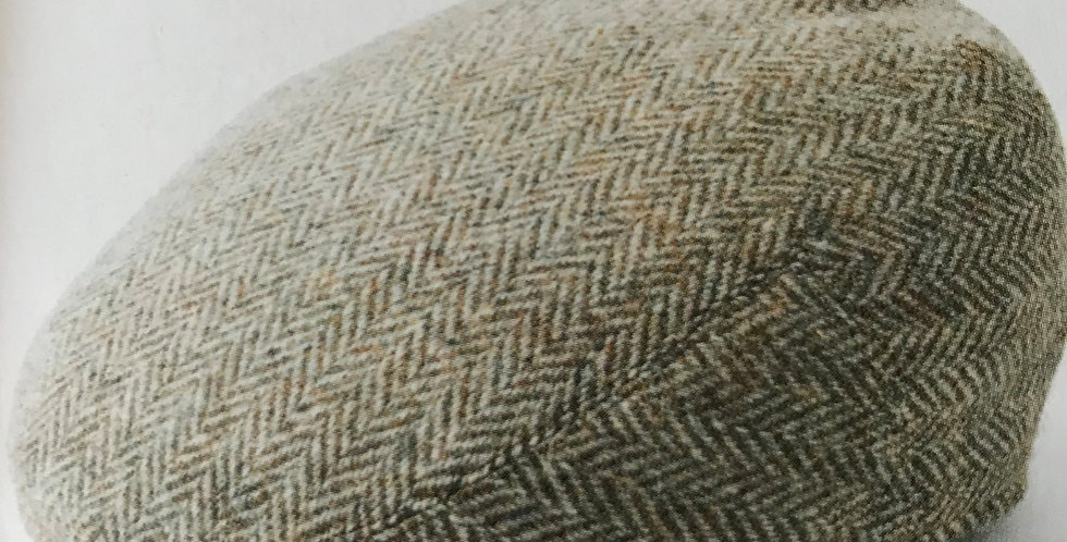 Light Green Harris Tweed Flat Cap