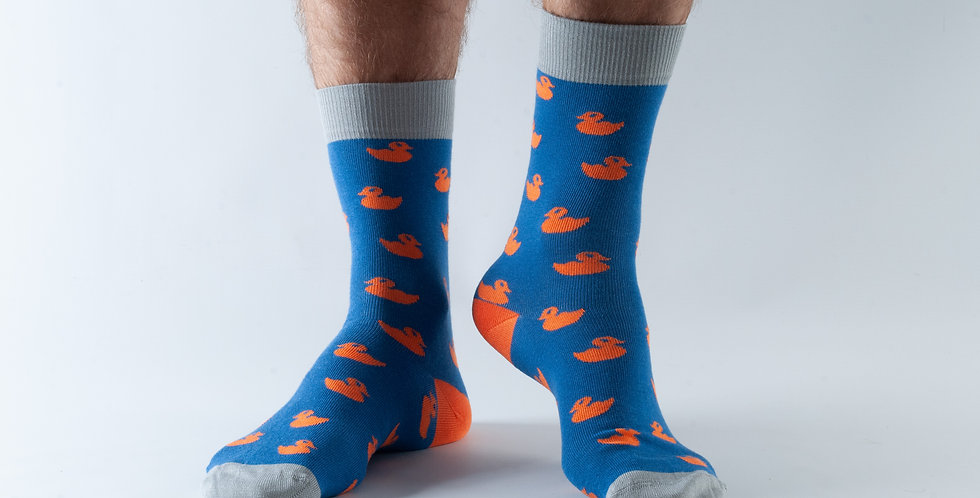 Size 7-11 Orange Duck Bamboo Socks