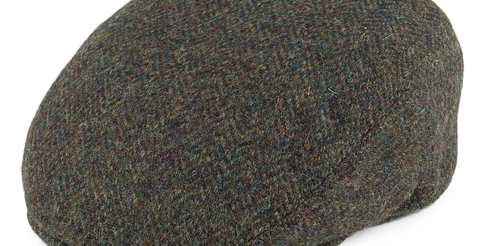 Green Harris Tweed Flat Cap