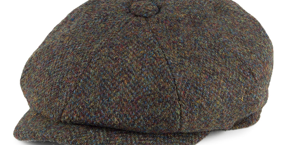 Green Harris Tweed 8 Piece Cap
