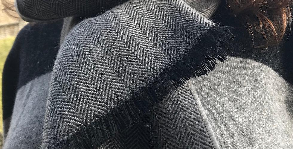 Grey Herringbone Scarf