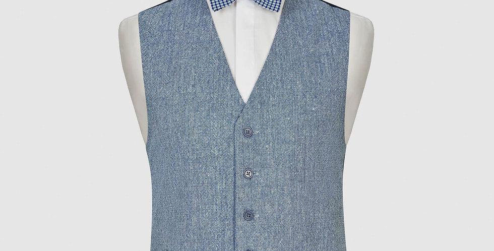 Pale Blue Wool Mix Waistcoat