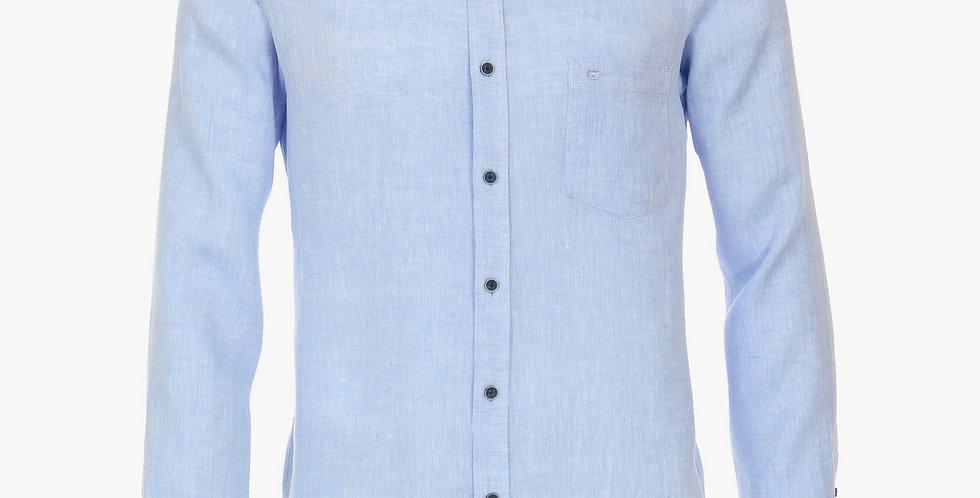 Pale Blue Long Sleeved Naro Collar Shirt