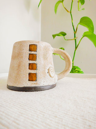 Volcano Mug in White No. 1
