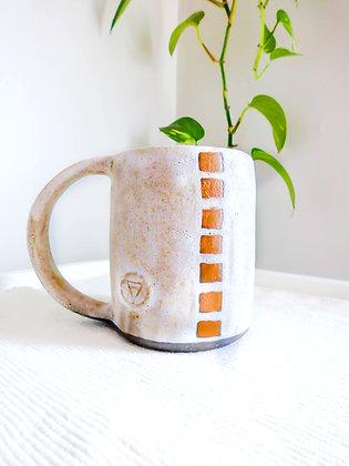 The Volcano Mug in White No.2