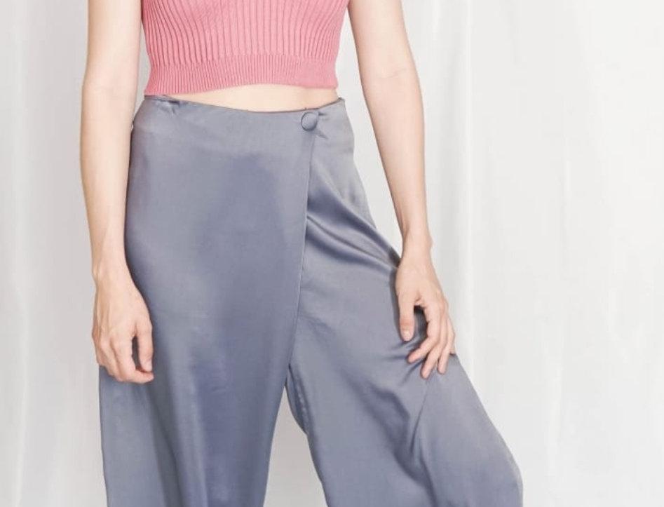 Pantalon Ancho Satin