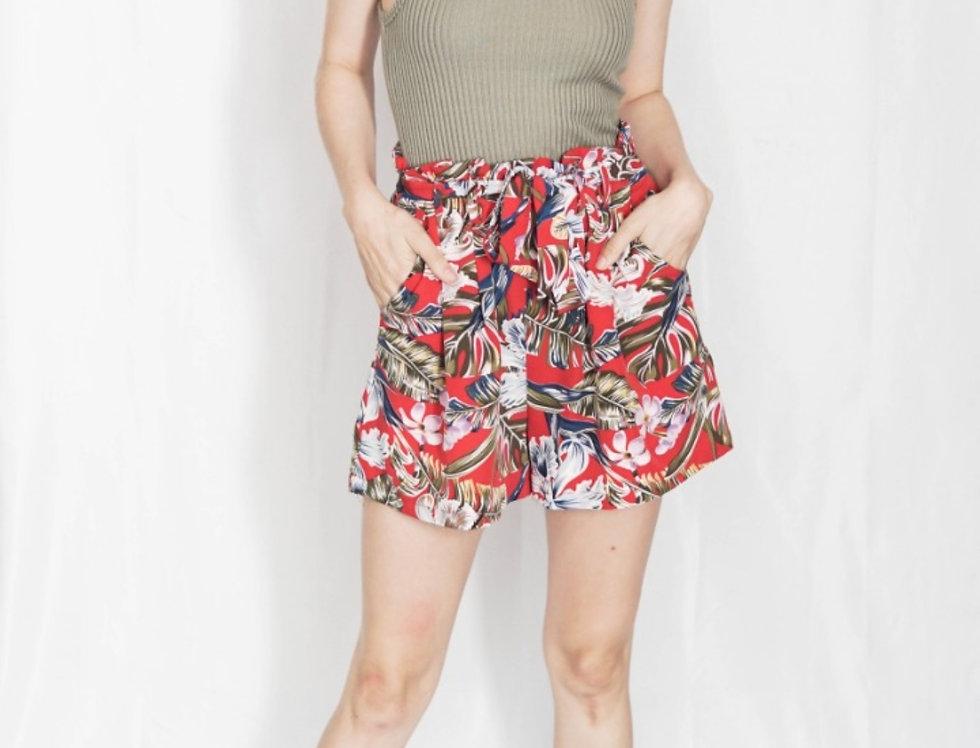 Short Tropical Rojo Cinto