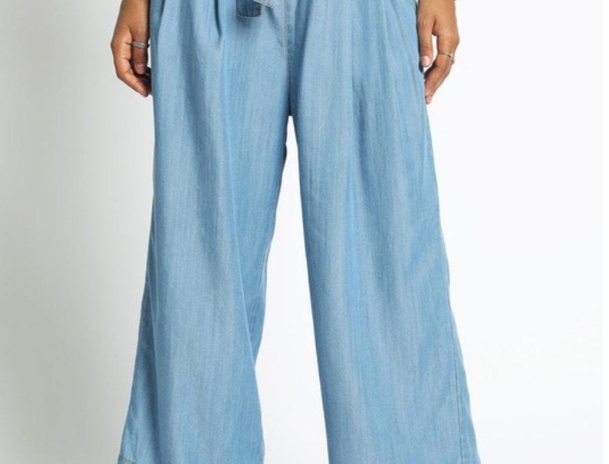 Pantalon Denim Con Cinto