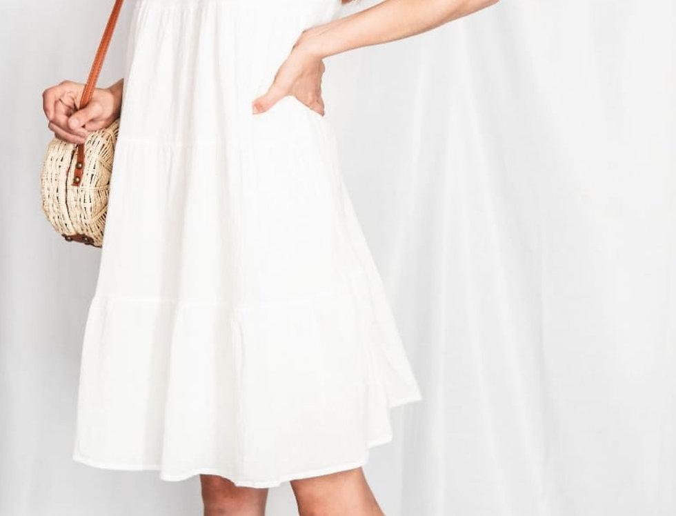Vestido Blanco Olanes