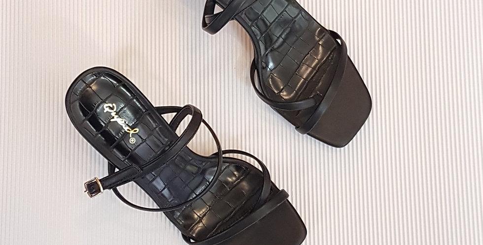 Zapatos Negros de Tiras