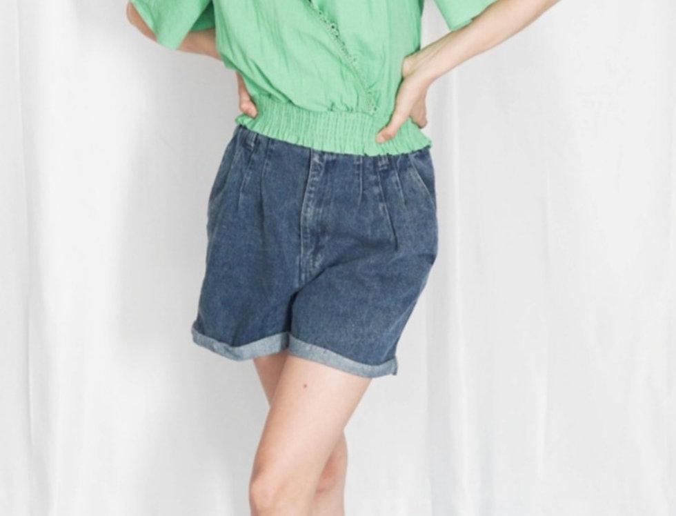 Blusa Verde Detalles Encaje