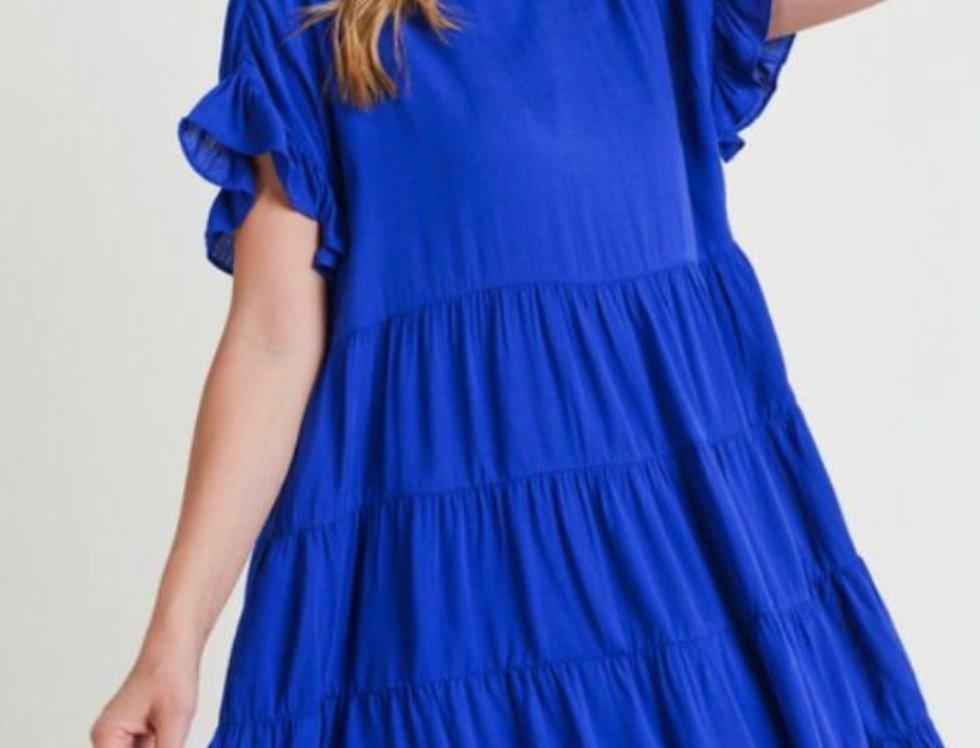 Vestido Holgado Azul Roya