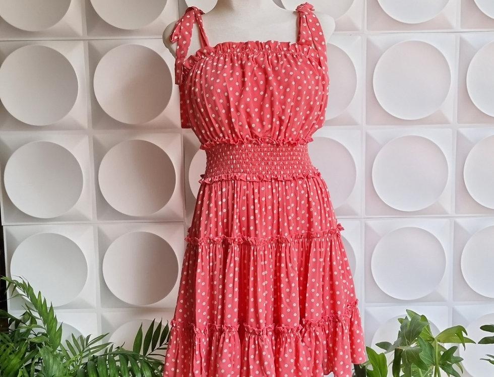 Vestido Polka Dot Rosa