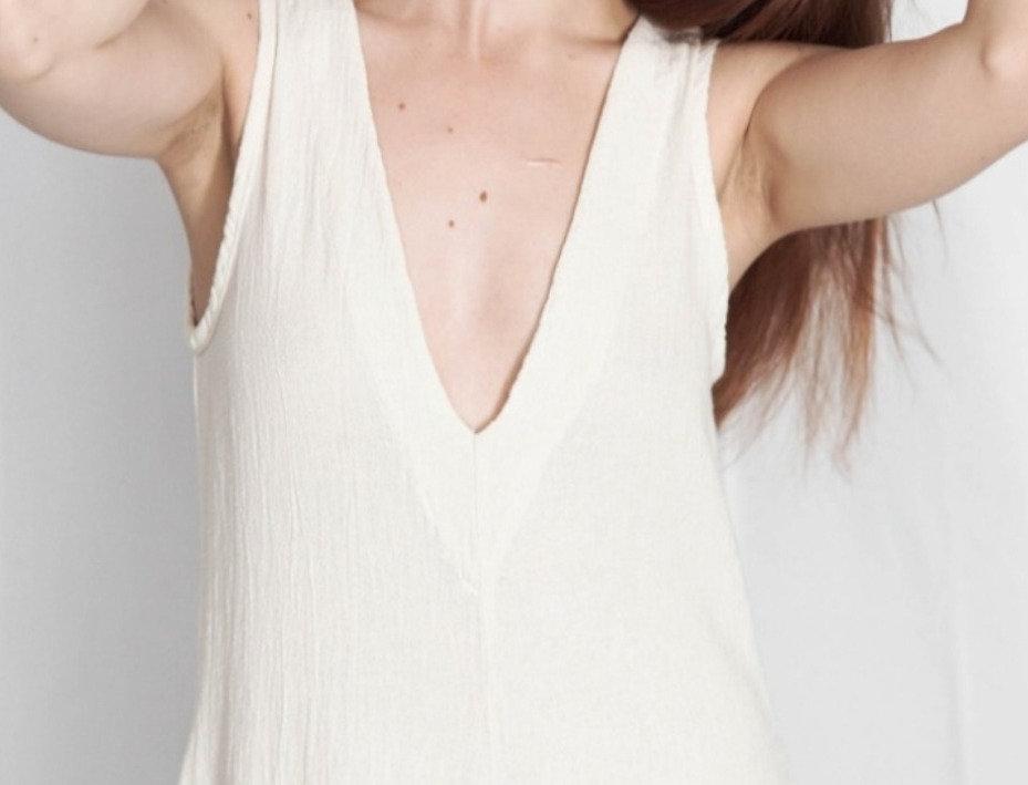 Vestido Cuello V Largo