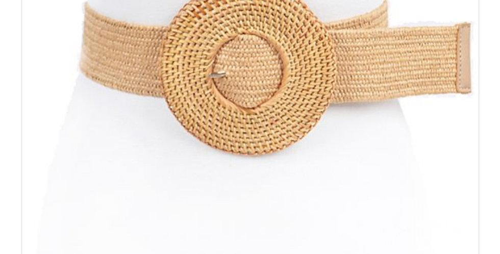 Cinturon  Hebilla de Bambú Beige