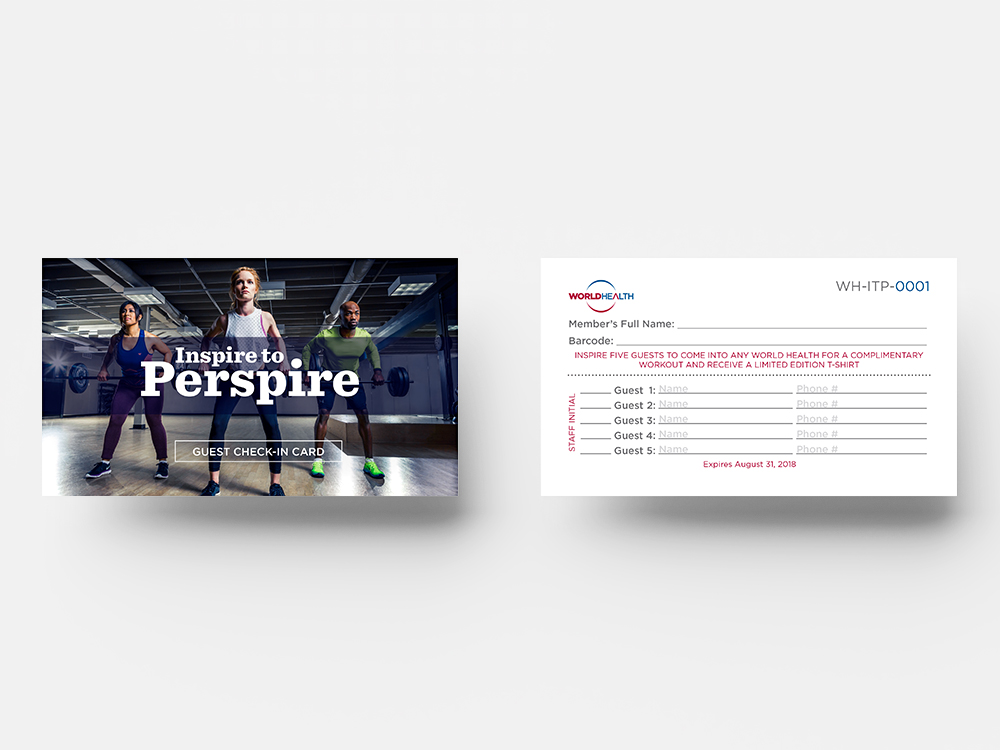 Inspire to Perspire Referral Card
