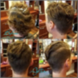 Photograph 2 showing before and after hair style