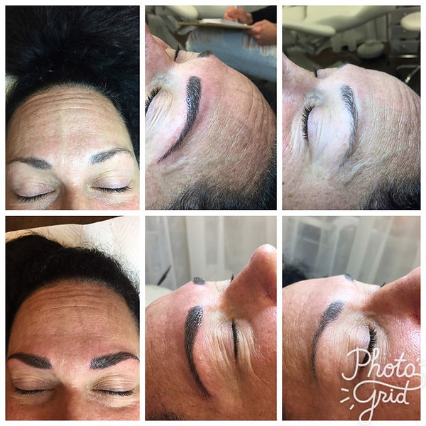 Microblading before and after photographs