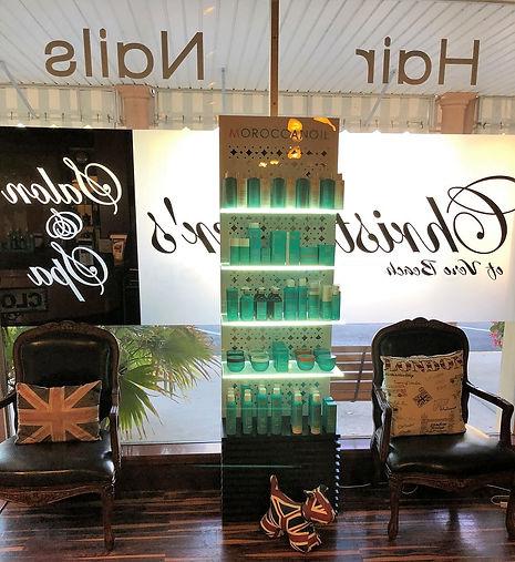 Moroccanoil hair oil display