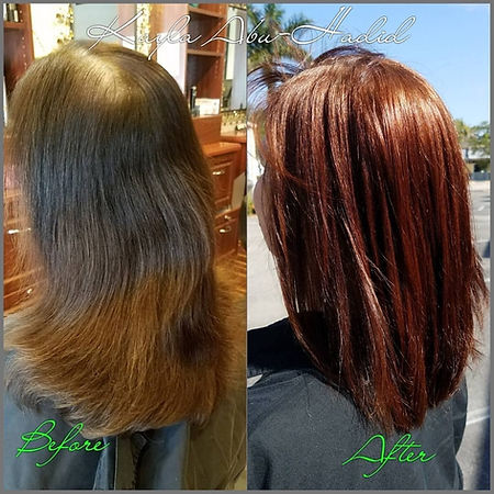 Photograph 5 showing before and after hair style