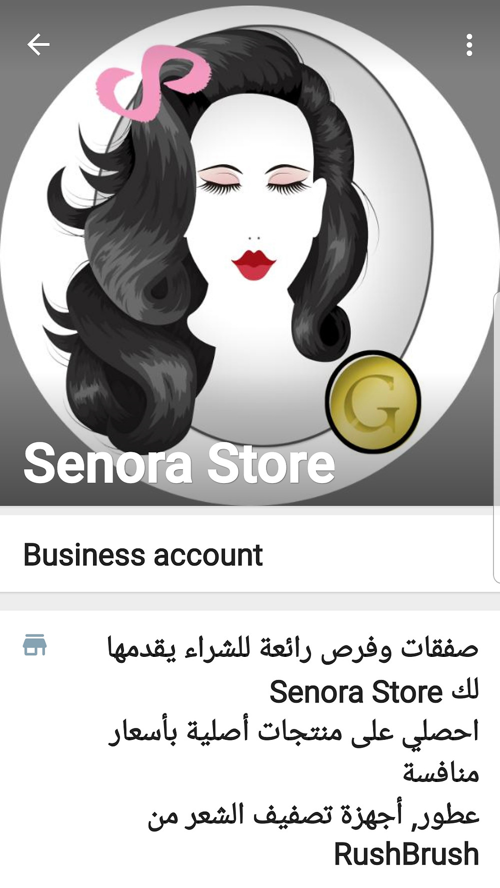 senora store whats app business profile