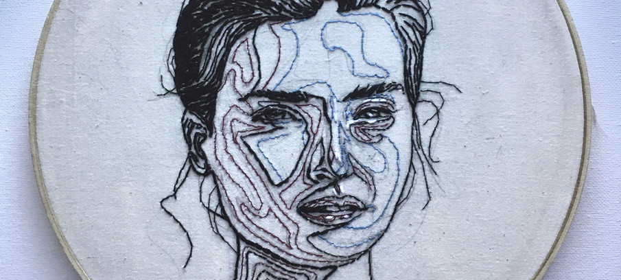 Embroidered Gal