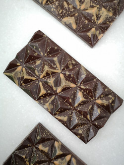 salted caramel dark chocolate geo bar 2.
