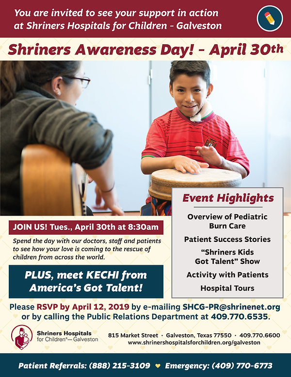 April 30 - Shriners Awareness Day