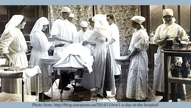 Description of WW1 Operating Theatre