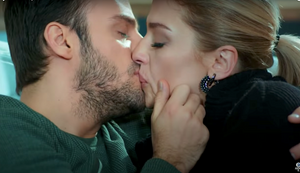 Sinan and Yasimin kiss Kiralik Ask romance