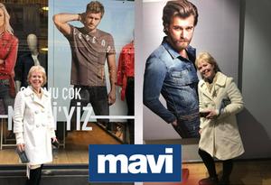 Ginger Monette with Kivanc Mavi poster Taxim Square Istanbul