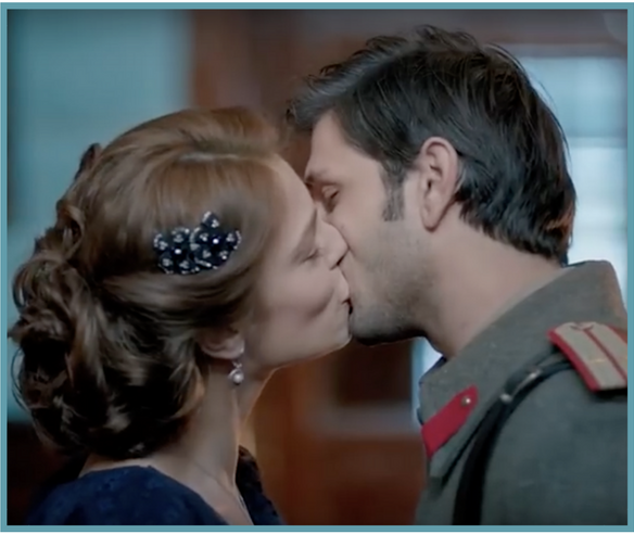 Celil and Tatya kiss Kurt Seyit ve Sura