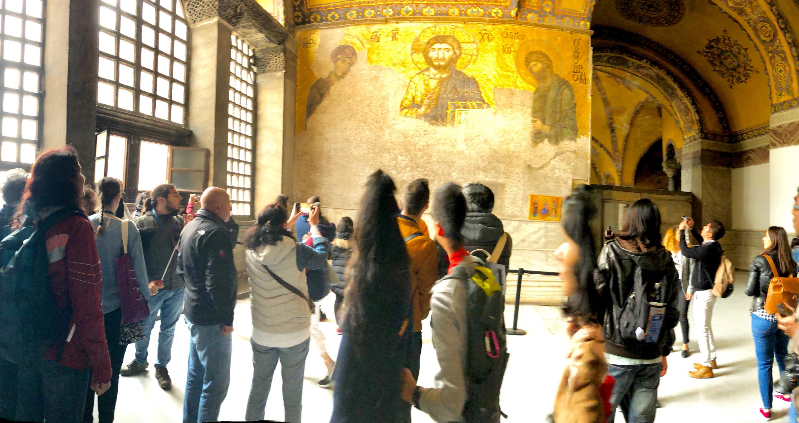 Panoramic View of Gallery & Mosaics
