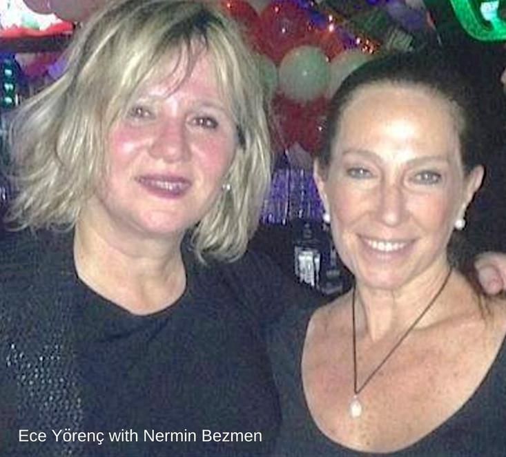 Screen writer Ece Yorenc with author Nermin Bezmen