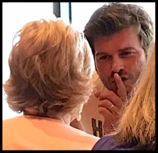 Kivanc Tatlitug talking to Ginger Monette in English