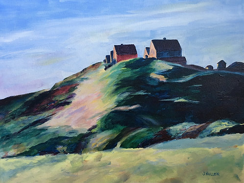 Corn Hill after Edward Hopper