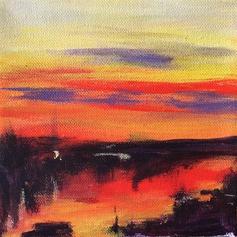 Sunset on the Dock study