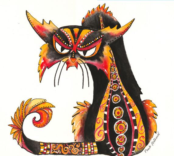 Black Cat Get Back Stare