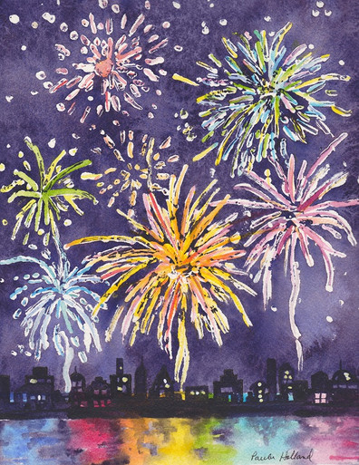 Fireworks Cityscape