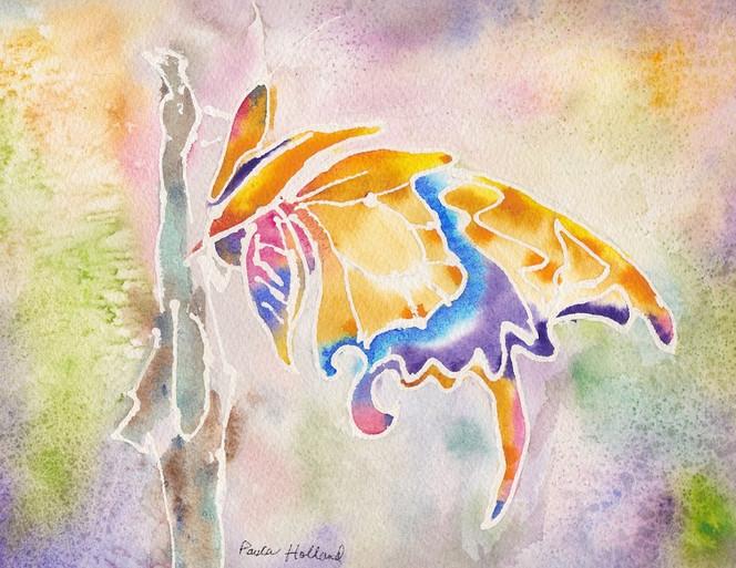"Swallowtail, 7"" x 10"", SOLD"