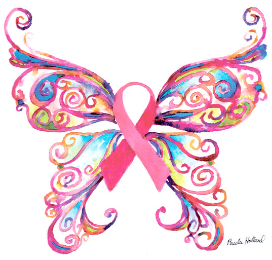 Pink Ribbon Butterfly