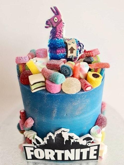 Loot Llama Fortnight Cake 6'' 6-14portions