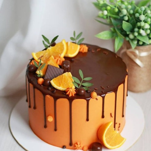 Chocolate Orange Drip Cake 6'' 6-14portions