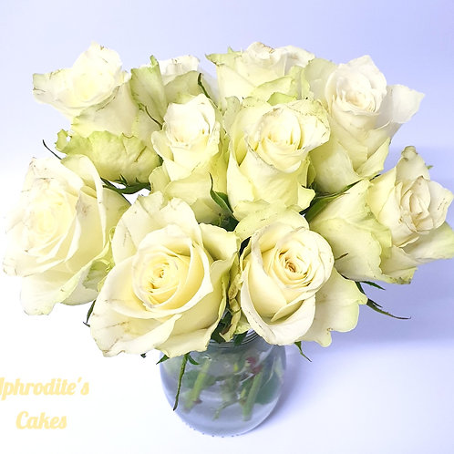 9 Small Fresh Roses for Cake/Cupcake top decoration